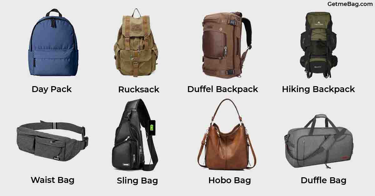 Pictures Of Different Types Of Bags