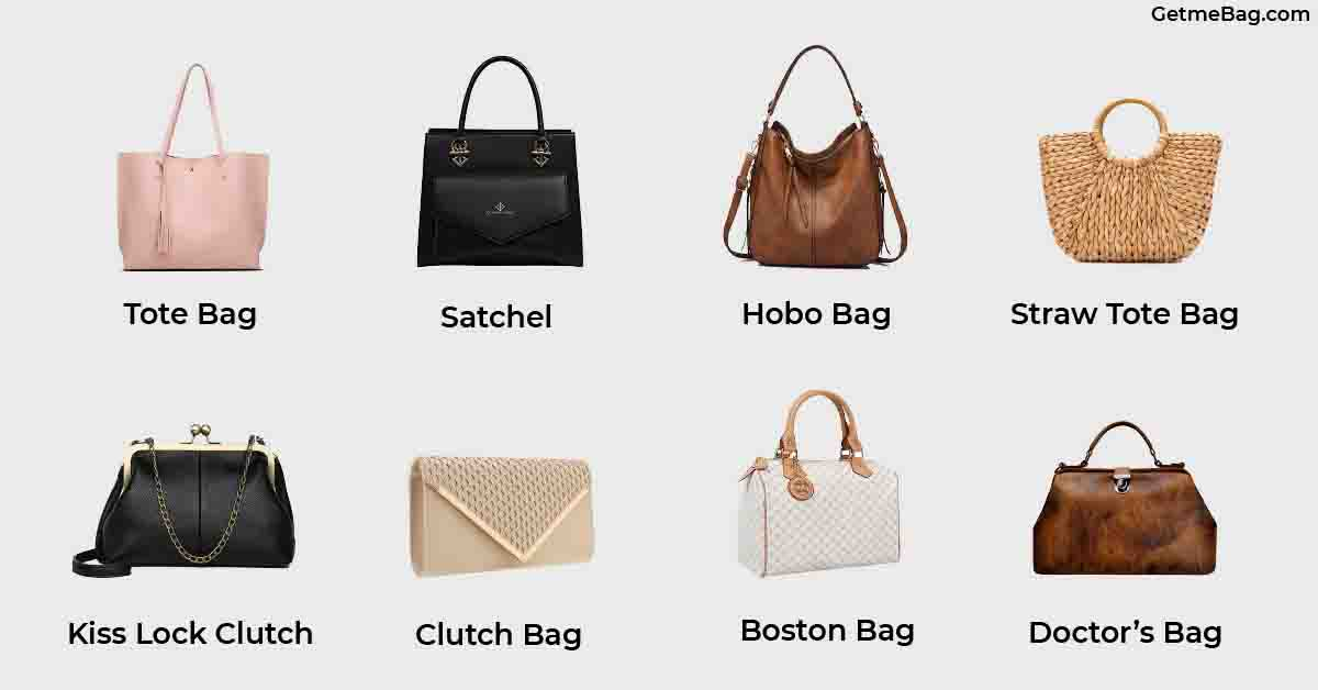 types of handbag and their names